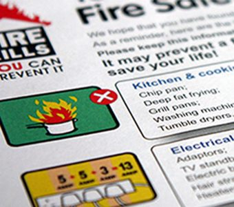 Fire safety leaflet