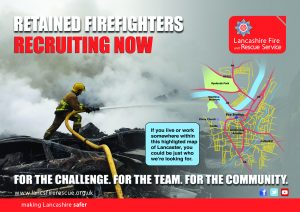 Lancaster Retained Firefighters Recruitment Poster