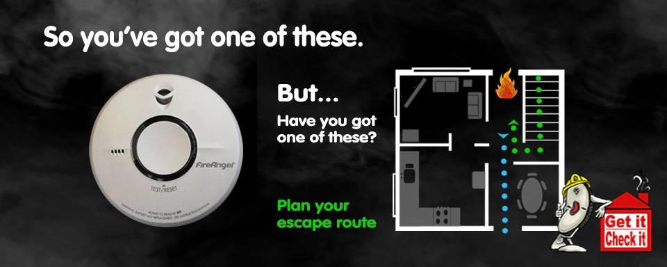 Plan Your Escape Route Poster