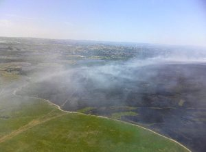 Burnt areas of Winter Hill