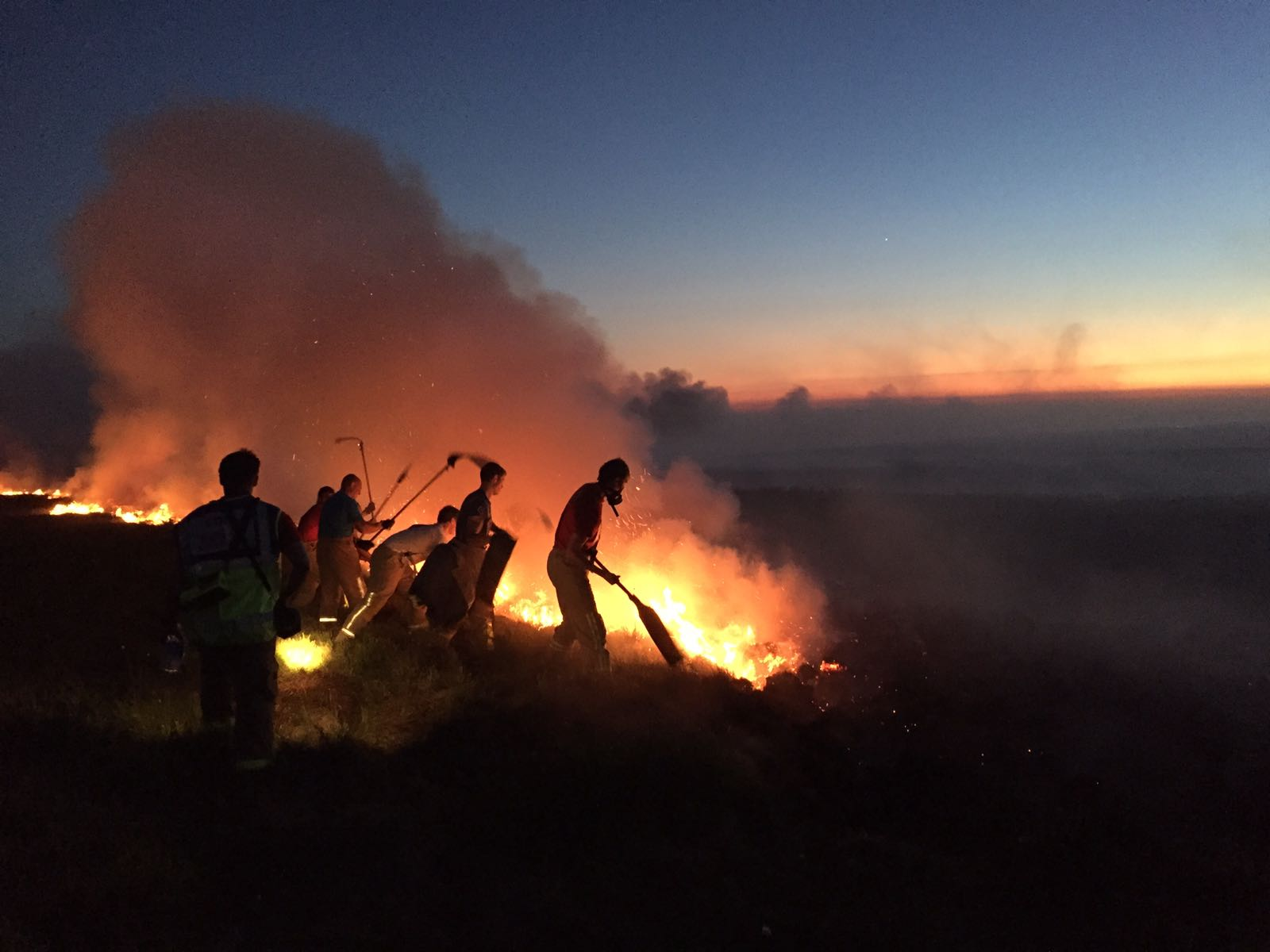 Firefighters at Winter Hill