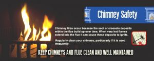 Chimney fire safety - keep your chimney clean to avoid chimney fires at your home
