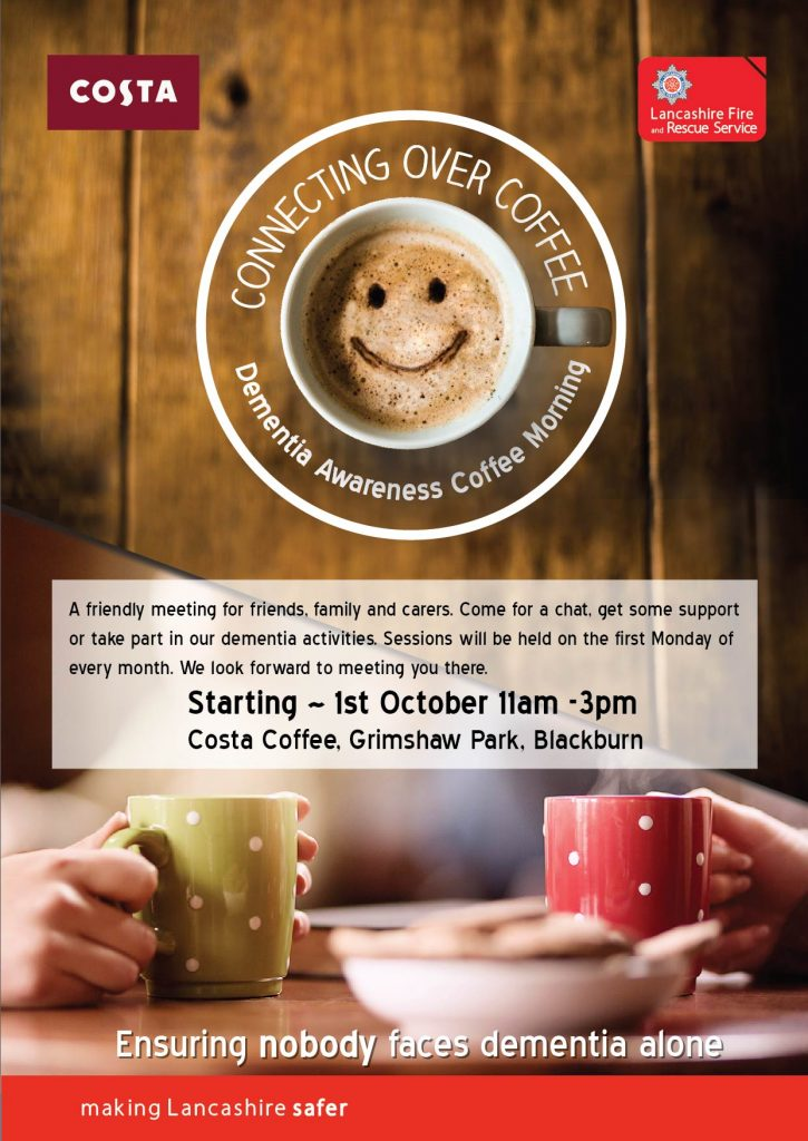 Blackburn's Dementia Support Coffee Morning Poster