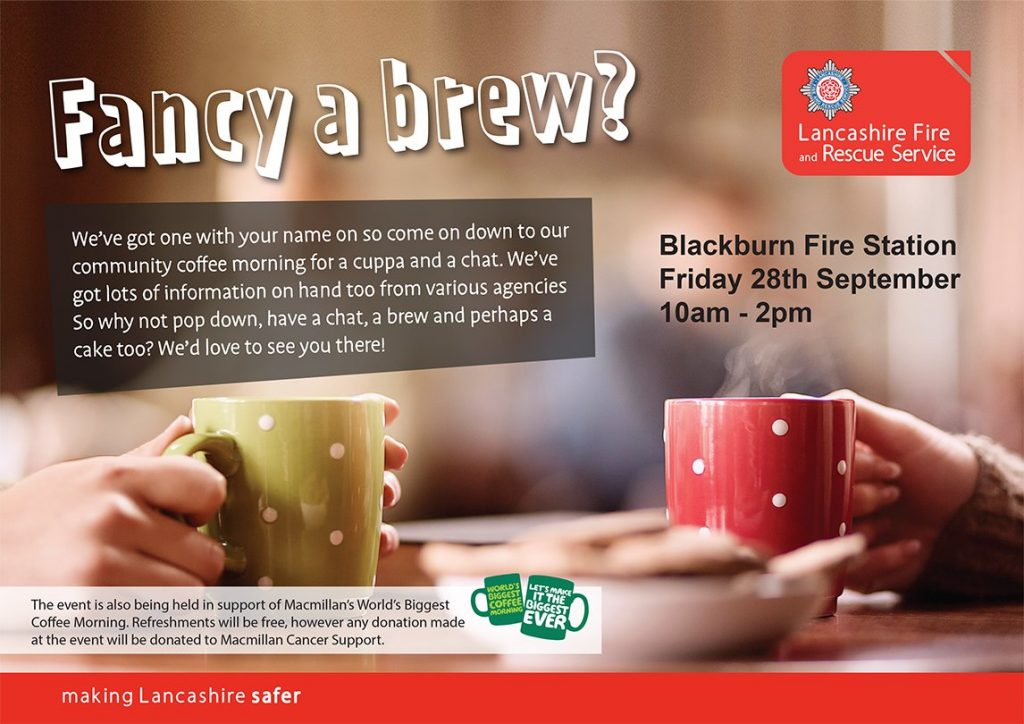Blackburn charity coffee morning