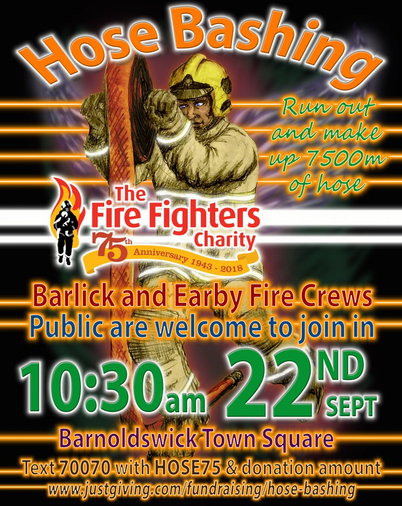 Raise money for The Fire Fighters Charity eventin Barnoldswick town square on September 22nd at 10:30