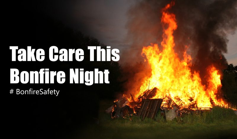 Image of a bonfire linking to bonfire safety information