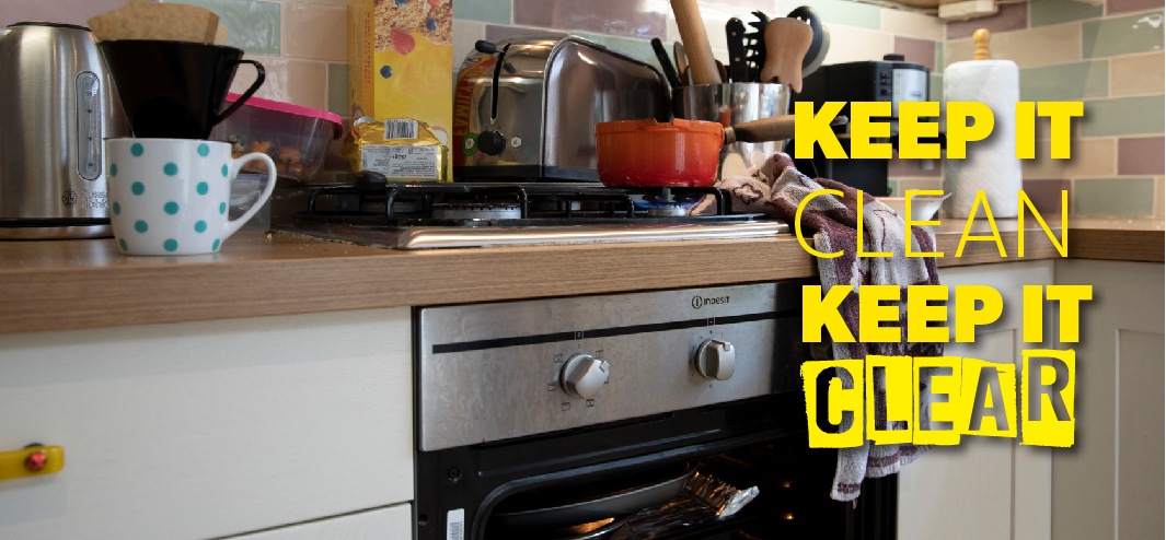 cluttered cooker image for cooking campaign keep it clean and clear