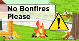 No bonfires please banner