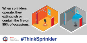 Sprinklers contain 99% of a fire when they activate