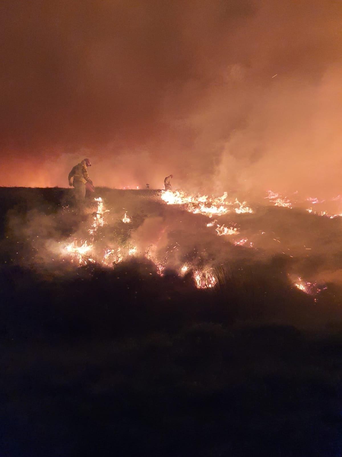 Wildfire in Darwen