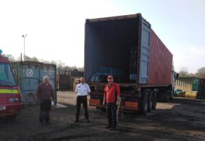 Operation Florian Volunteers and Area Manager Simon Fryer at PPE donation point