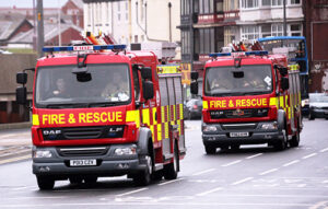 Two fire engines