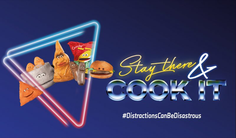 Stay there and cook it campaign artwork